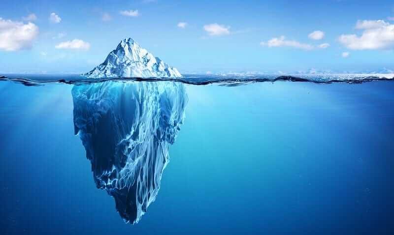 tảng băng trôi trong tương tác mạng xã hội