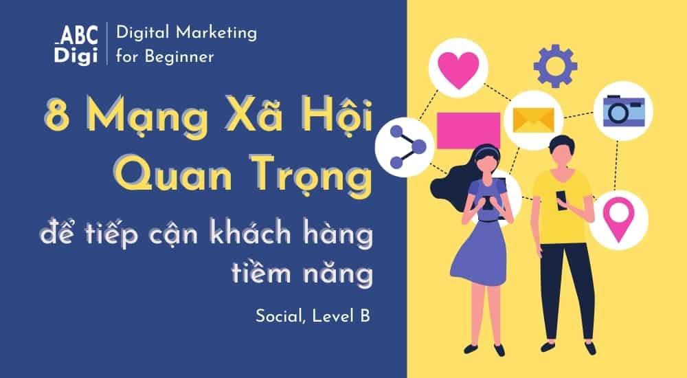 mạng xã hội để làm marketing