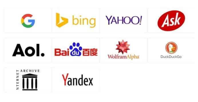 Các công cụ tìm kiếm phổ biến