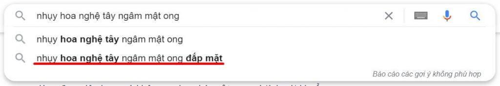 Tìm từ khóa LSI trên Google Suggest