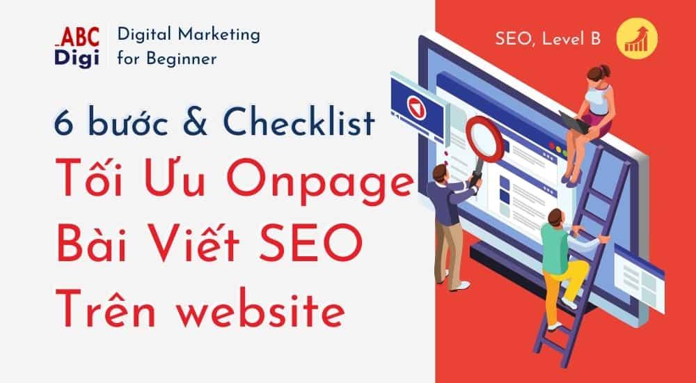 checklist tối ưu onpage cho bài viết seo trên website