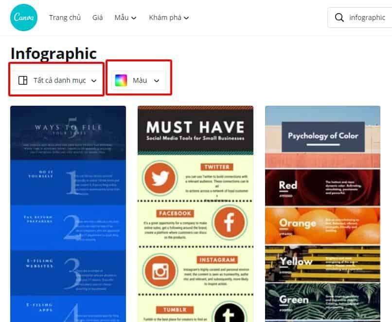 Chọn mẫu inforgraphic đúng chủ đề