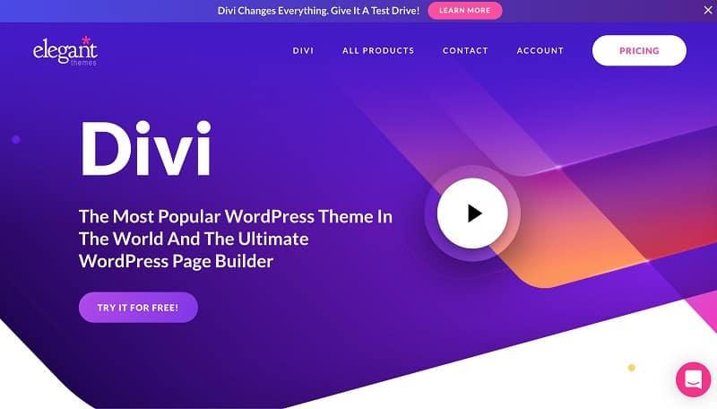 Theme Divi làm website wordpress rất tốt
