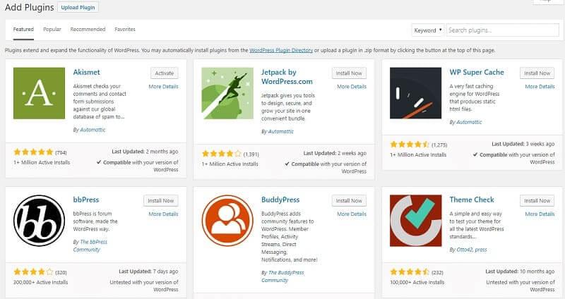 Wordpress có nhiều plugin để làm thêm chức năng cho website.